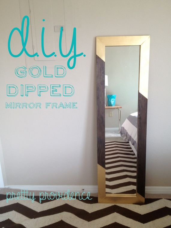 diy-mirror-frame-gold-dipped