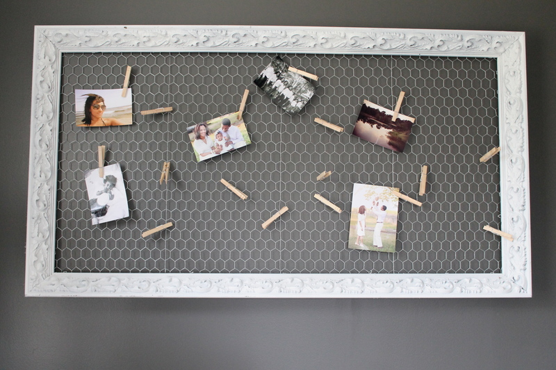 chicken wire frame, diy, diy project, antique frame