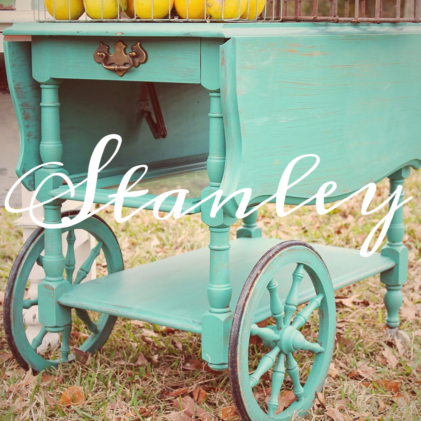 before and after: vintage tea cart,tea cart, painted tea cart, diy blog, the hollidays at home