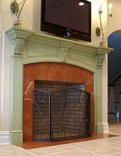 greenfireplace, the best painted fireplaces