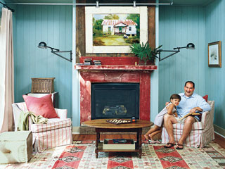 red fireplace, The Best Painted Fireplaces