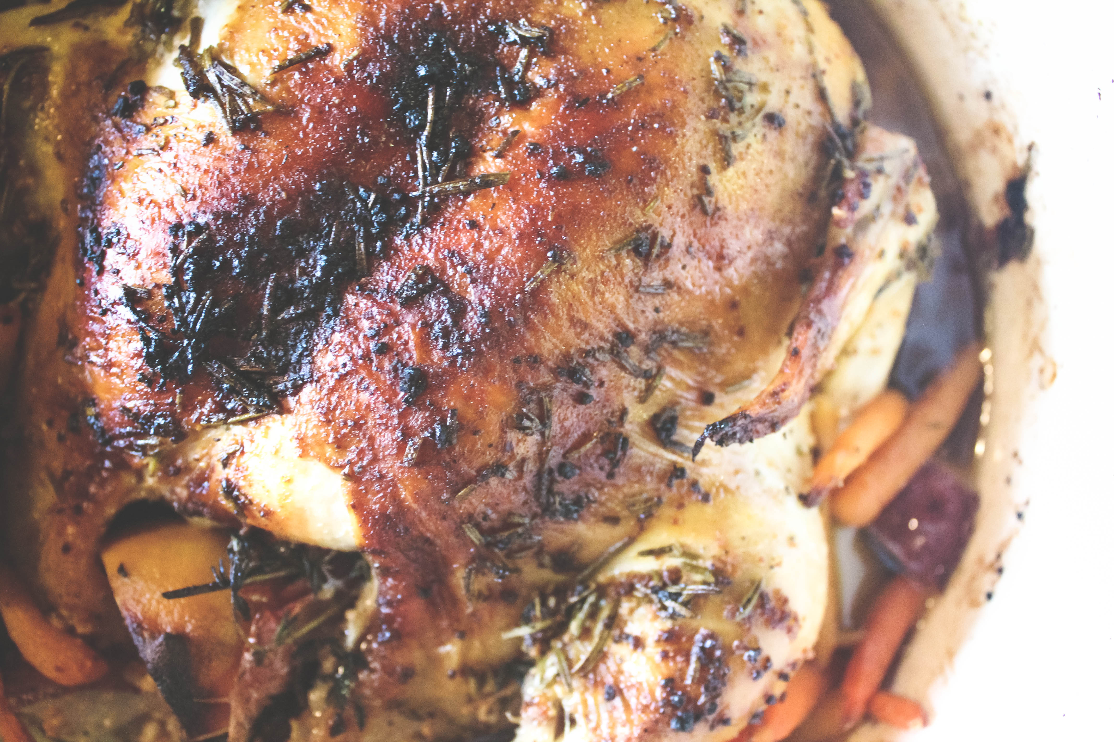 roasted chicken, chicken, dutch oven, roasted chicken in a dutch oven