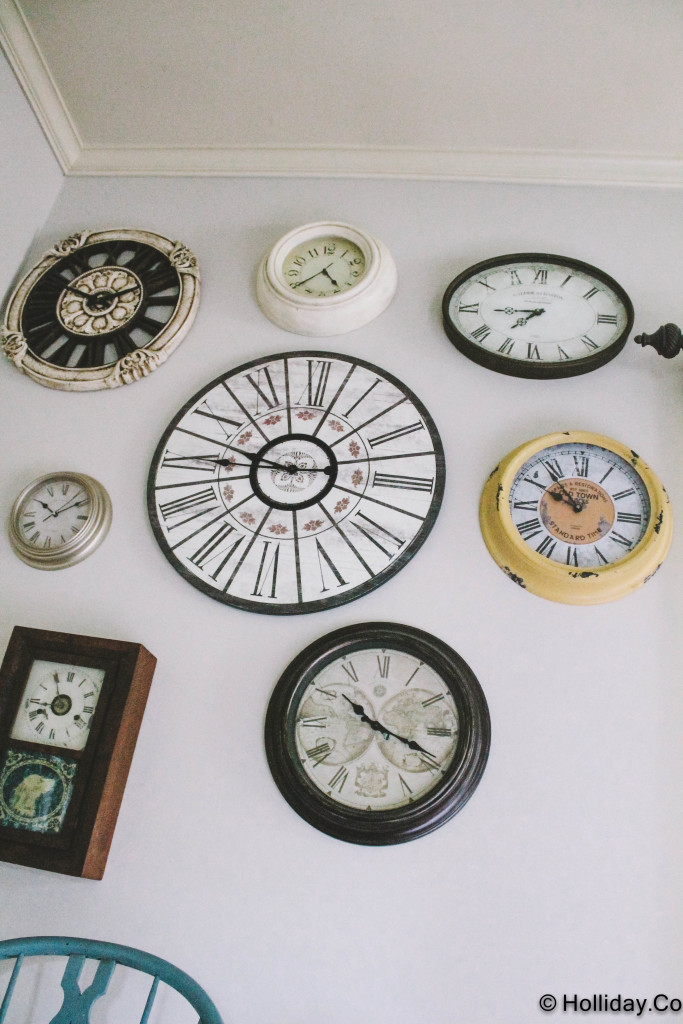clock gallery wall, gallery wall, wall decorations, wall decor, wall inspiration