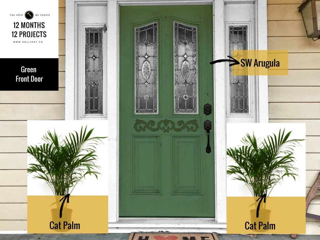 sherwin williams arugula, paint the front door, painting project