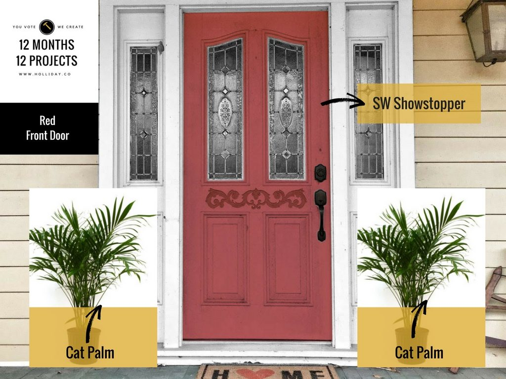sherwin williams showstopper, paint the front door, painting project