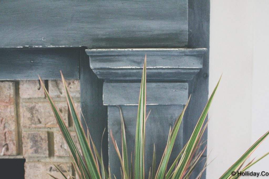 graphite painted fireplace-15