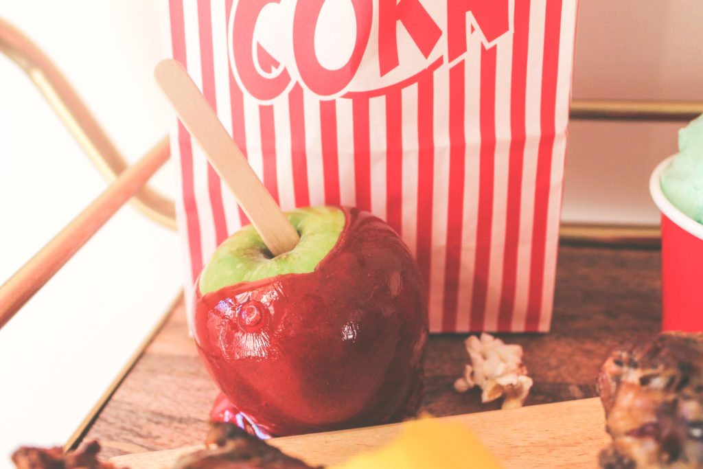 funnel cake, turkey legs, candy apple, carnival date night, date night ideas, cotton candy, carnival lollipop, cotton candy pina colada,