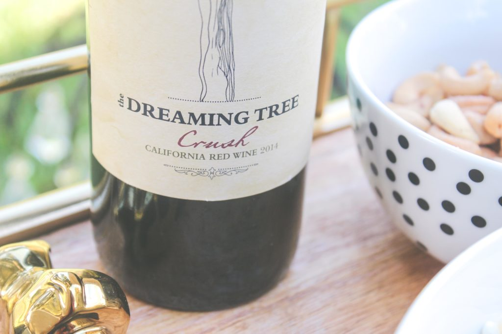 no fuss entertaining with the dreaming tree, the dreaming tree, dreaming tree wine, entertain with dreaming tree, bar cart, bar cart entertaining, cheese board,