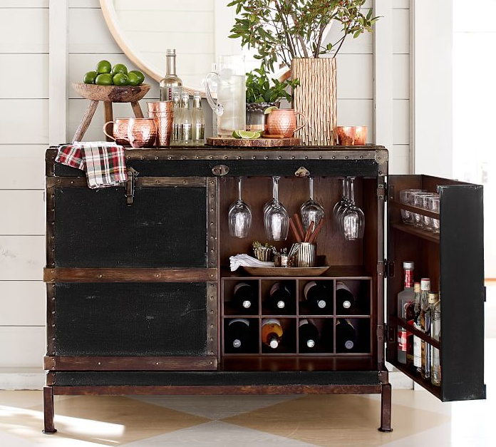 entertain guests with a bar cart