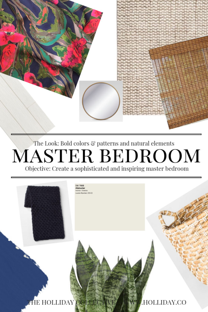 master bedroom design board, master bedroom one room challenge